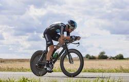 骑自行车者迈克尔罗杰斯 免版税图库摄影