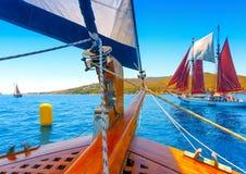 Κλασική ξύλινη πλέοντας βάρκα Στοκ εικόνες με δικαίωμα ελεύθερης χρήσης