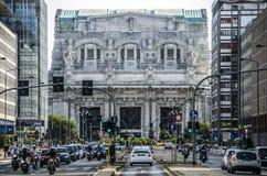 中央米兰火车站 免版税库存照片