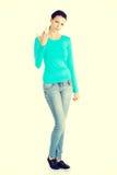 μέσος έφηβος κοριτσιών δάχ& Στοκ εικόνα με δικαίωμα ελεύθερης χρήσης