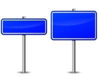 Διανυσματικά κενά μπλε σημάδια Στοκ φωτογραφία με δικαίωμα ελεύθερης χρήσης