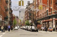 一点意大利,曼哈顿,纽约 库存图片
