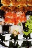 Σύνολο από τα παραδοσιακά ιαπωνικά τρόφιμα Στοκ Εικόνες
