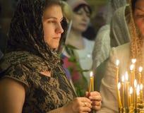 Украинские правоверные празднуют троицу Стоковое фото RF