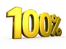 在白色背景的一百百分之九标志 免版税库存照片