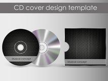 Шаблон дизайна представления крышки компактного диска Стоковая Фотография RF