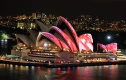 悉尼歌剧院前面高的看法  库存照片
