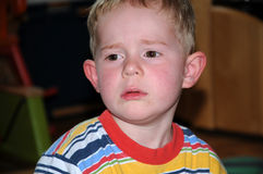 αγόρι δυστυχισμένο Στοκ εικόνα με δικαίωμα ελεύθερης χρήσης