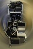 老计算机和膝上型计算机 库存照片