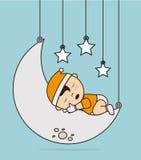 Дизайн спокойной ночи Стоковое Изображение