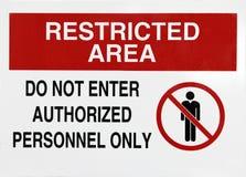 знак зоны ограниченный Стоковые Фотографии RF