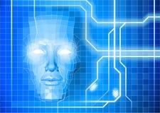面孔技术背景概念 免版税图库摄影