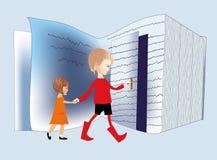 Στον κόσμο των βιβλίων Στοκ εικόνα με δικαίωμα ελεύθερης χρήσης
