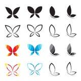 Διανυσματική ομάδα πεταλούδας Στοκ φωτογραφία με δικαίωμα ελεύθερης χρήσης