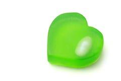 心形的肥皂 免版税库存照片