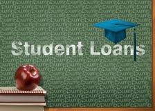 学生贷款是沉默寡言的 免版税库存图片