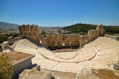Греческие руины старой агоры на акрополе в Афинах, Греции Стоковая Фотография RF