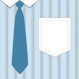 领带和衬衣为父亲节 免版税图库摄影