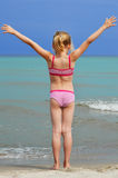 海滩女孩一点 库存照片