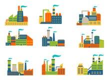 Εργοστάσια και εγκαταστάσεις καθορισμένα Στοκ φωτογραφία με δικαίωμα ελεύθερης χρήσης