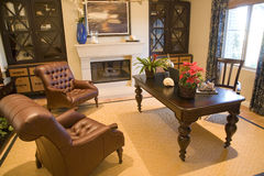 домашний роскошный офис Стоковое фото RF