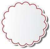σαφές διάνυσμα ετικεττών πώλησης κορδελλών απεικόνισης κόκκινο Στοκ Εικόνα
