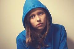 女孩哀伤青少年 免版税图库摄影