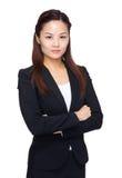 企业严重的妇女 免版税库存照片