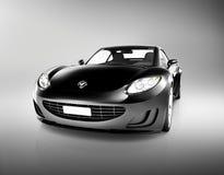 Όμορφο σύγχρονο μαύρο αθλητικό αυτοκίνητο Στοκ εικόνες με δικαίωμα ελεύθερης χρήσης
