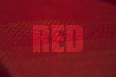 Κόκκινη έννοια Στοκ εικόνες με δικαίωμα ελεύθερης χρήσης