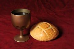 вино хлеба Стоковые Фото