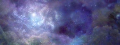 在外层空间的星云 免版税库存图片