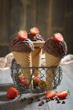 巧克力冰淇凌 图库摄影