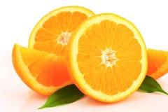 Πορτοκαλιά μισά και σφήνες Στοκ Φωτογραφίες