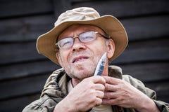 Άτομο που έχει ένα ξύρισμα Στοκ Εικόνες