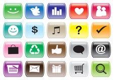 Εικονίδιο διεπαφών καθορισμένο και κουμπιά για την κοινωνική δικτύωση μέσων Στοκ φωτογραφίες με δικαίωμα ελεύθερης χρήσης
