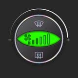 Управление воздушных потоков с зеленым дисплеем Стоковое Изображение RF
