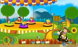 Παιδιά στην παιδική χαρά - απεικόνιση για τα παιδιά Στοκ Εικόνες