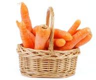 Морковь в корзине Стоковое фото RF