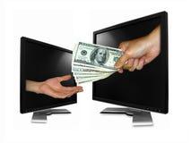 在线付款 免版税库存照片