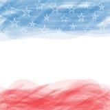 флаг США Плакат с большой поцарапанной рамкой Стоковые Изображения RF