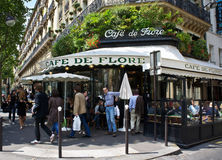 巴黎咖啡馆 图库摄影
