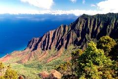 海岸夏威夷考艾岛 库存图片