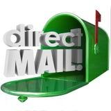 直接邮件措辞邮箱广告市场情报我 免版税库存照片