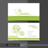 Φυσικό σύγχρονο πρότυπο επαγγελματικών καρτών Στοκ Εικόνες