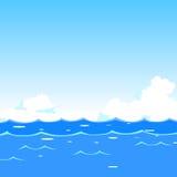 διανυσματικά κύματα θάλασσας απεικόνισης ανασκόπησης Στοκ εικόνα με δικαίωμα ελεύθερης χρήσης