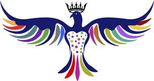 Логотип кроны голубя Стоковая Фотография