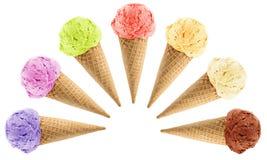 Κώνοι παγωτού Στοκ Φωτογραφία