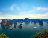 哈隆海湾越南全景 库存图片