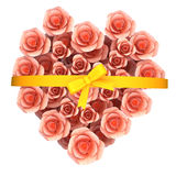 玫瑰礼物代表招呼拉丁文和华伦泰 库存图片